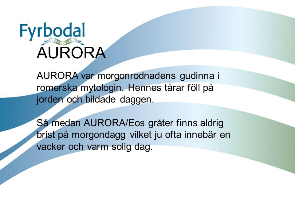 AURORA AURORA var morgonrodnadens gudinna i romerska mytologin. Hennes tårar föll på jorden och bildade daggen. Så medan AURORA/Eos gråter finns aldri