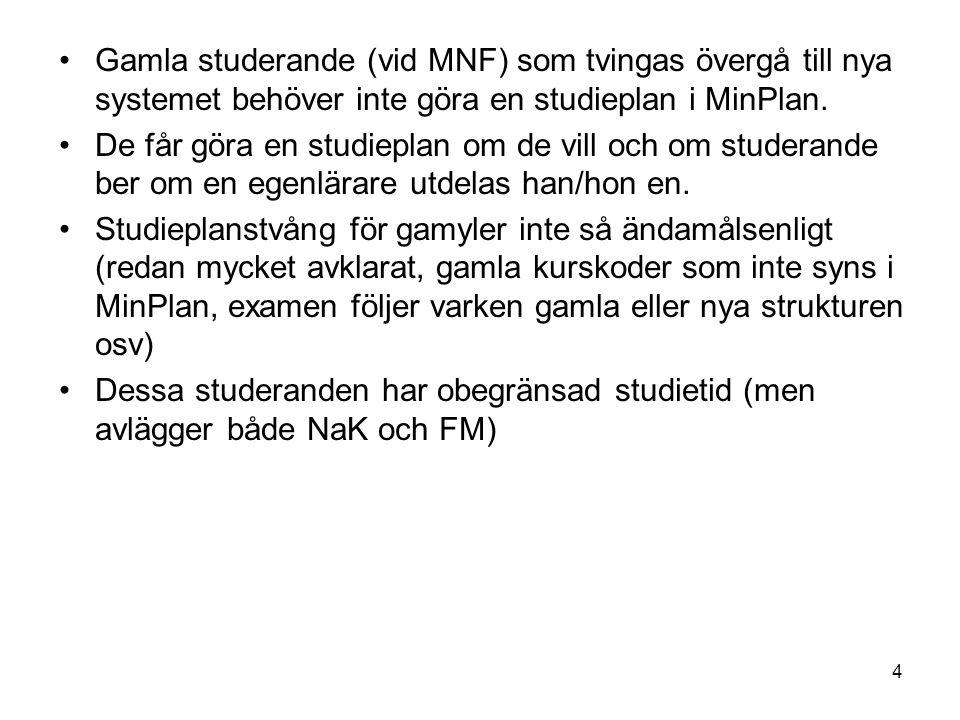 5 Kvalitetsarbetet Utkastet till MNF:s verksamhetshandbok har varit på remiss till ämnena (utkastet fanns tillgängligt för alla på webben).
