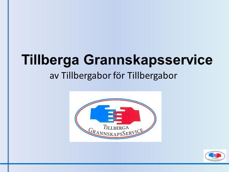 Tillberga Grannskapsservice av Tillbergabor för Tillbergabor