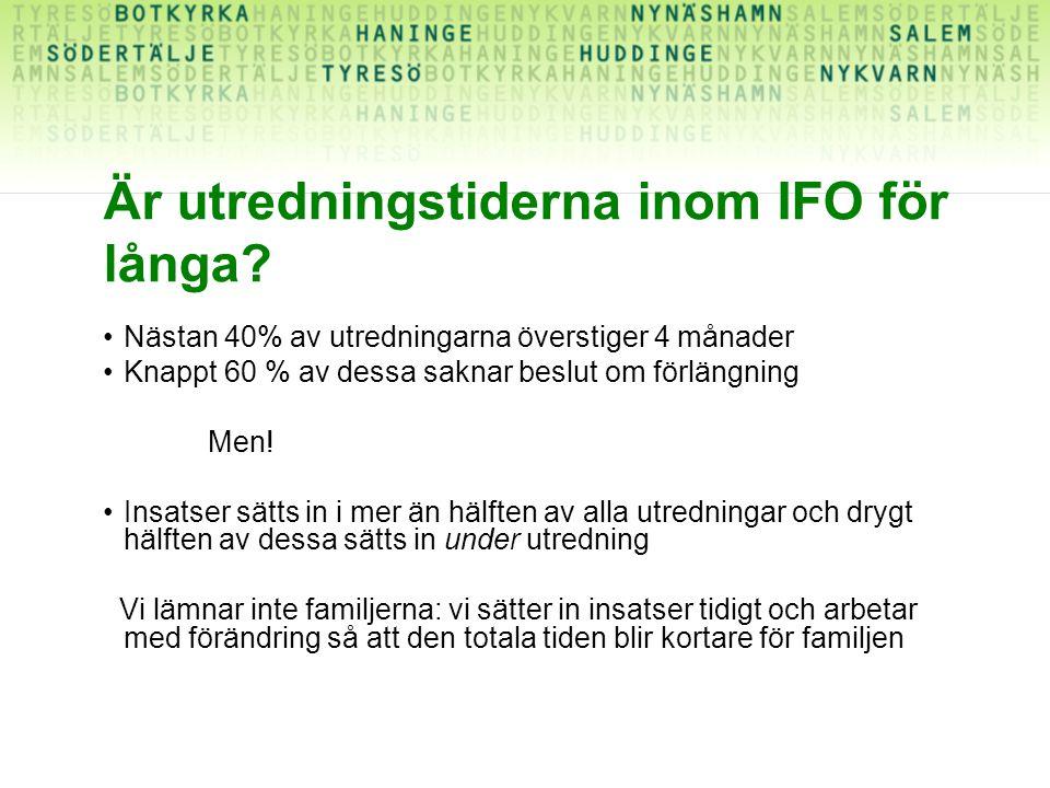 Är utredningstiderna inom IFO för långa.