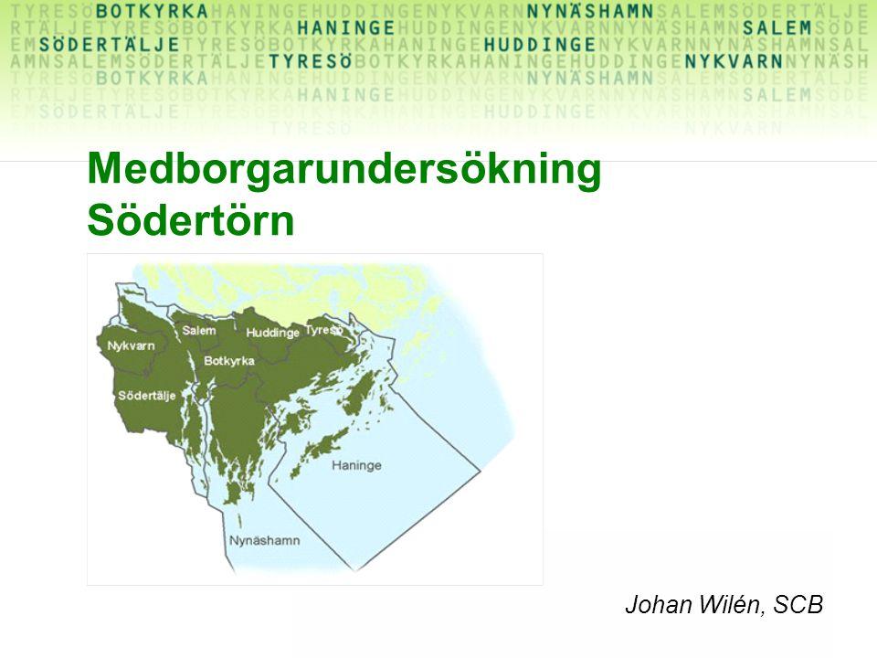 Johan Wilén, SCB Medborgarundersökning Södertörn