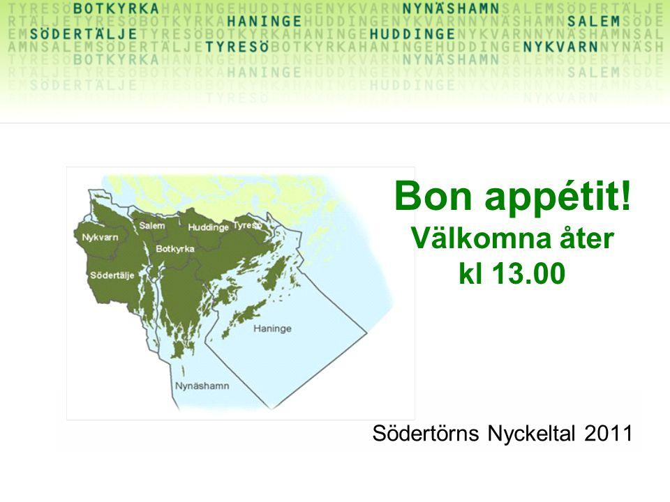 Södertörns Nyckeltal 2011 Bon appétit! Välkomna åter kl 13.00