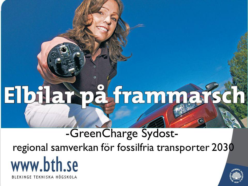 -GreenCharge Sydost- regional samverkan för fossilfria transporter 2030