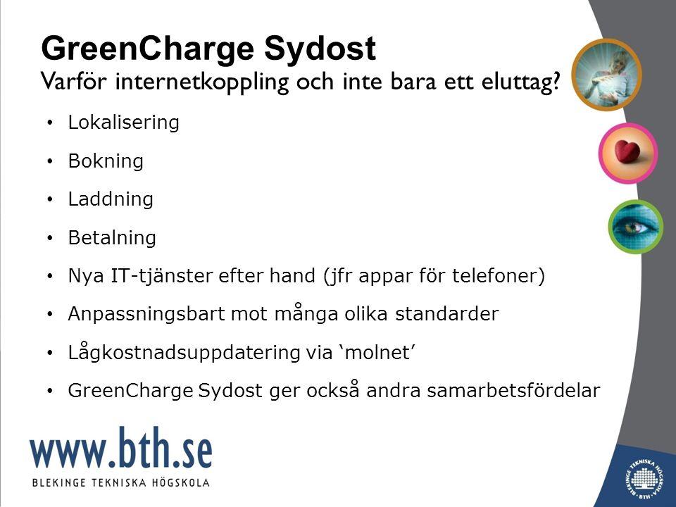 www.miljofordonsyd.se GreenCharge Sydost upplägg 1.Demonstrationer av: -ett fungerande och hållbart regionalt elfordonsystem -en väl fungerande och expansiv affärssamverkan i regionen -M.fl.