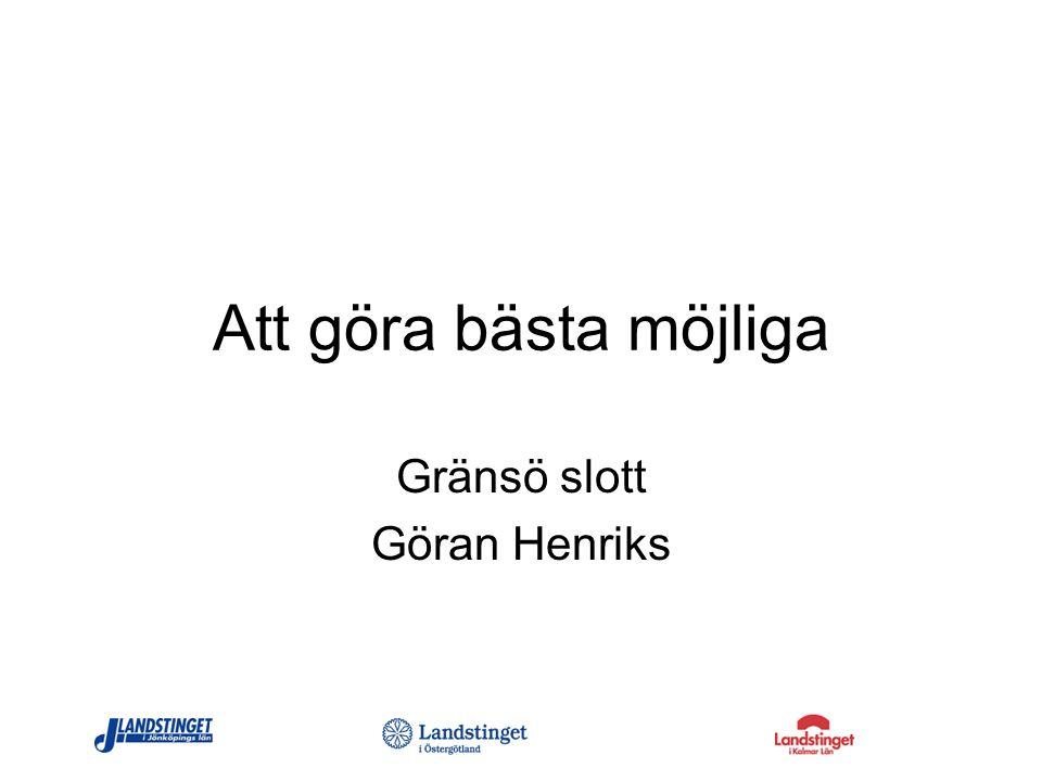 Att göra bästa möjliga Gränsö slott Göran Henriks
