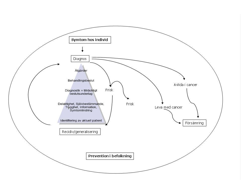 Utdrag ur nationell cancerstrategi – SOU 2009:11 - Det saknas vetenskaplig kunskap om hur en patientfokuserad och sammanhållen vårdkedja inom cancervården bäst kan utformas.