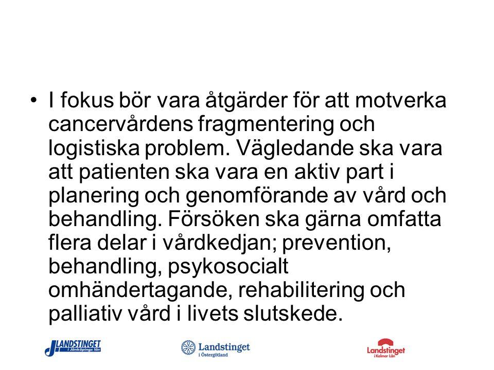 Vi skrev i ansökan… För att individanpassa vårdprocessen krävs ett strukturerat arbetssätt som empiriskt innefattar följande delprocesser: (se sid 2) Preventiva åtgärder på befolkningsnivå Tidig identifiering av aktuell patient.
