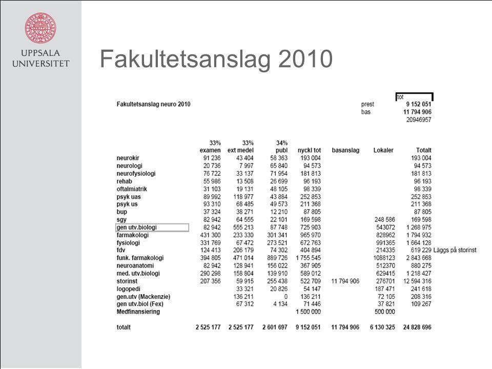 Fakultetsanslag 2010