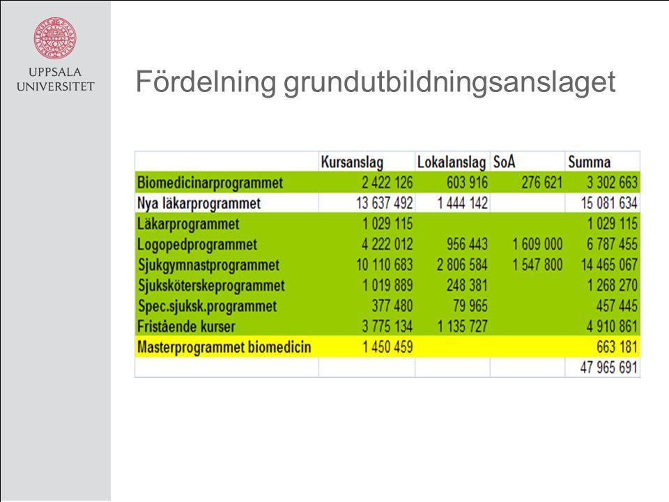 Användning av basanlaget Basanslaget för 2010 är 11 794 tkr Basanslaget används för att finansiera lärostolsprofessorslönerna som ligger centralt på Institutionen.