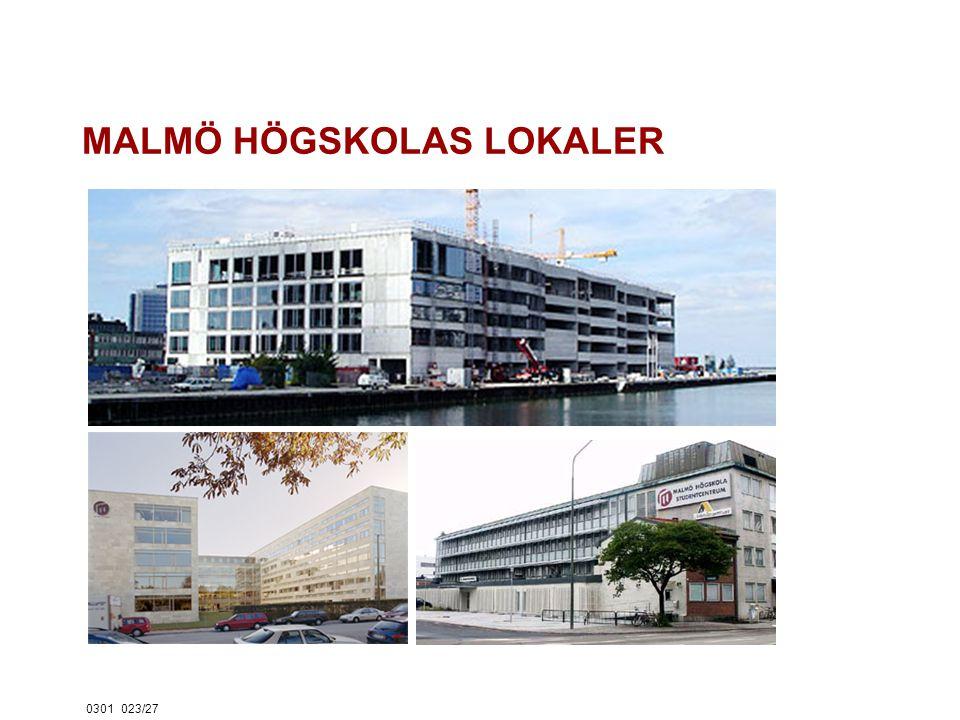 0301023/27 MALMÖ HÖGSKOLAS LOKALER