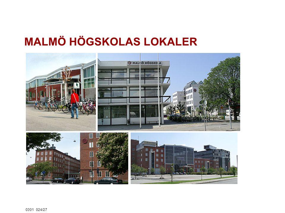 0301024/27 MALMÖ HÖGSKOLAS LOKALER