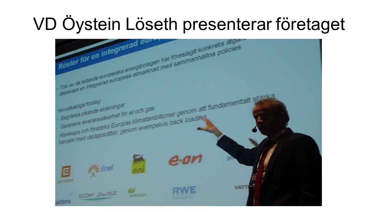 VD Öystein Löseth presenterar företaget