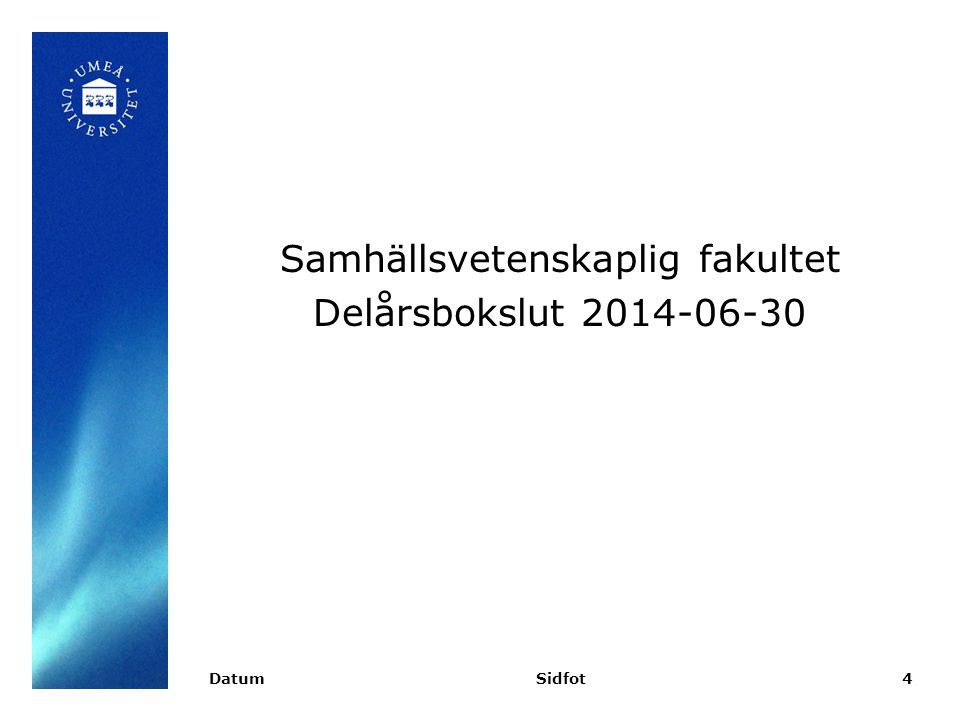 Budget/Utfall (HST) – Vt14 DatumSidfot5