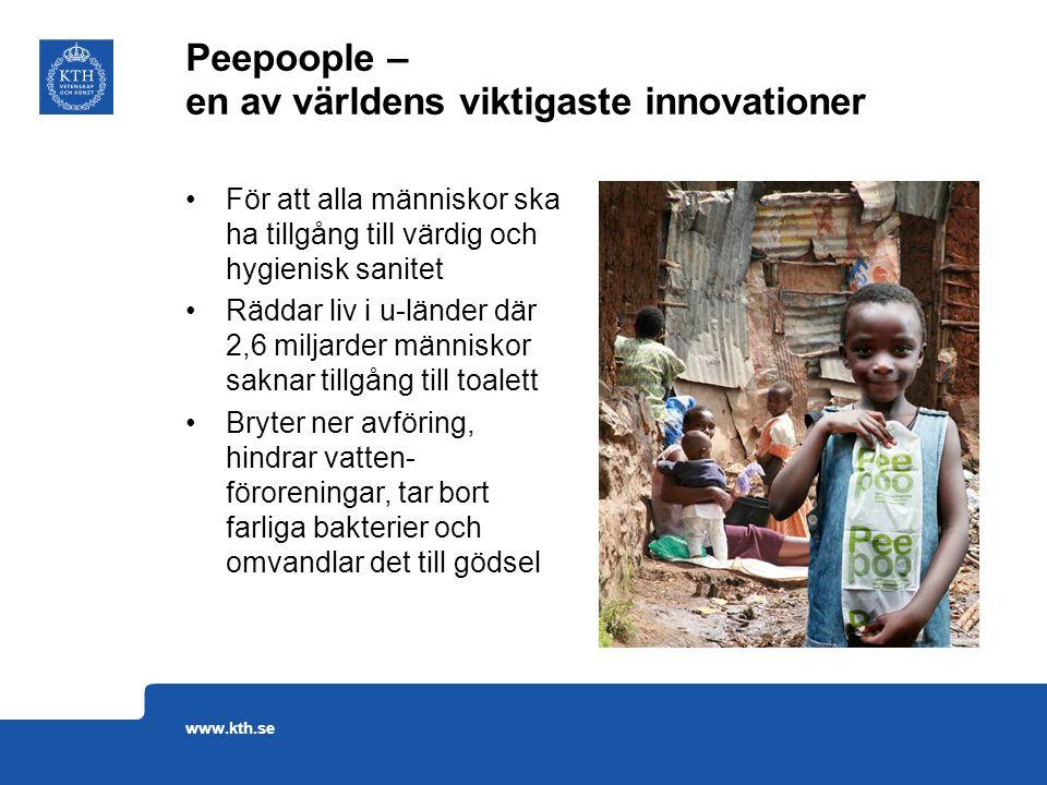 För att alla människor ska ha tillgång till värdig och hygienisk sanitet Räddar liv i u-länder där 2,6 miljarder människor saknar tillgång till toalet