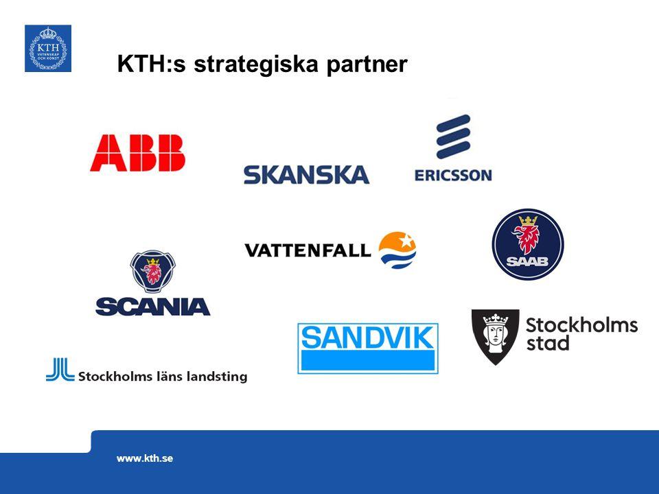 KTH:s strategiska partner www.kth.se