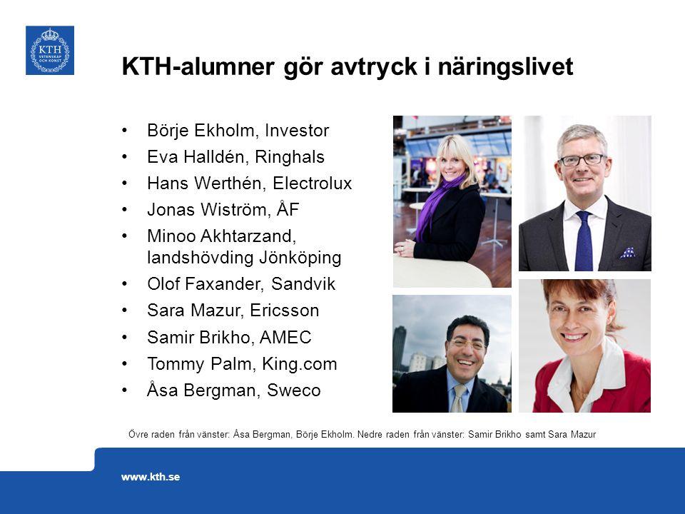 Börje Ekholm, Investor Eva Halldén, Ringhals Hans Werthén, Electrolux Jonas Wiström, ÅF Minoo Akhtarzand, landshövding Jönköping Olof Faxander, Sandvi
