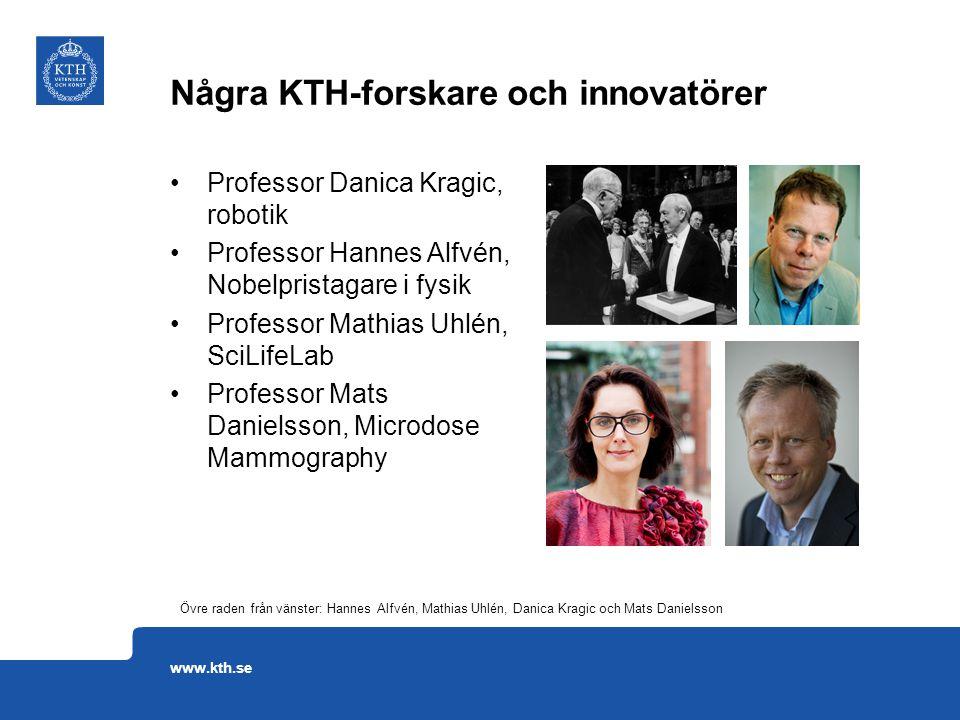 Professor Danica Kragic, robotik Professor Hannes Alfvén, Nobelpristagare i fysik Professor Mathias Uhlén, SciLifeLab Professor Mats Danielsson, Micro