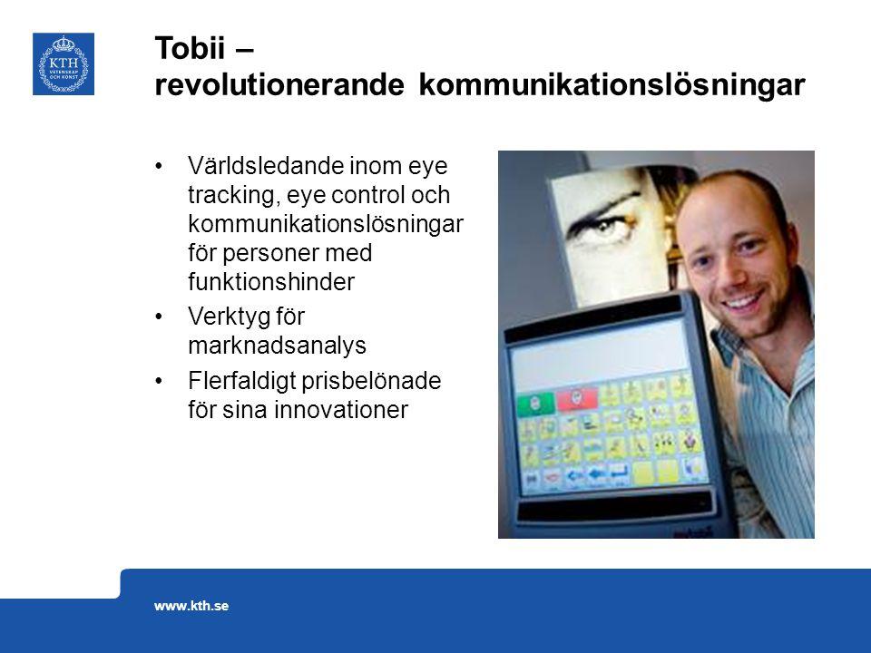 Världsledande inom eye tracking, eye control och kommunikationslösningar för personer med funktionshinder Verktyg för marknadsanalys Flerfaldigt prisb
