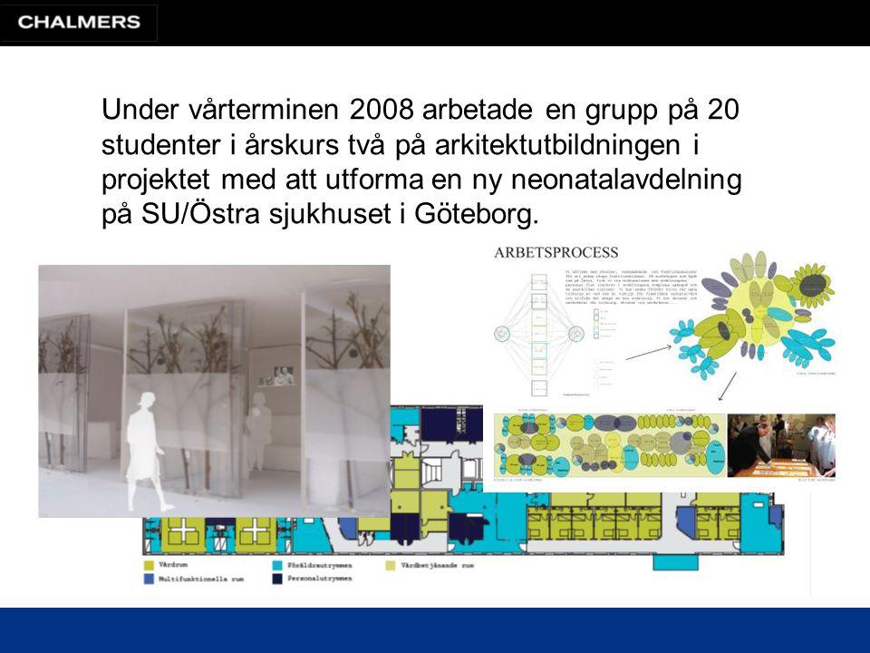 Under vårterminen 2008 arbetade en grupp på 20 studenter i årskurs två på arkitektutbildningen i projektet med att utforma en ny neonatalavdelning på SU/Östra sjukhuset i Göteborg.