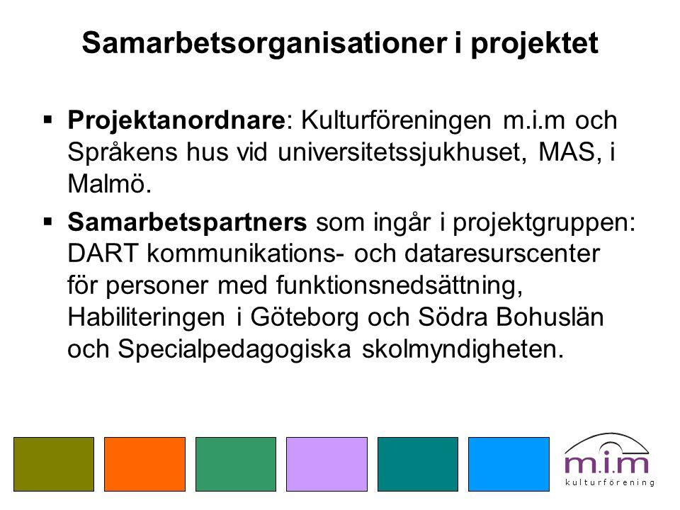 k u l t u r f ö r e n i n g Aktiviteter i projekt TAKK för Språket  Teckenspråkskurs för föräldrar med annat modersmål än svenska i samarbete med TUFF- utbildning och SPSM (ht 2010).