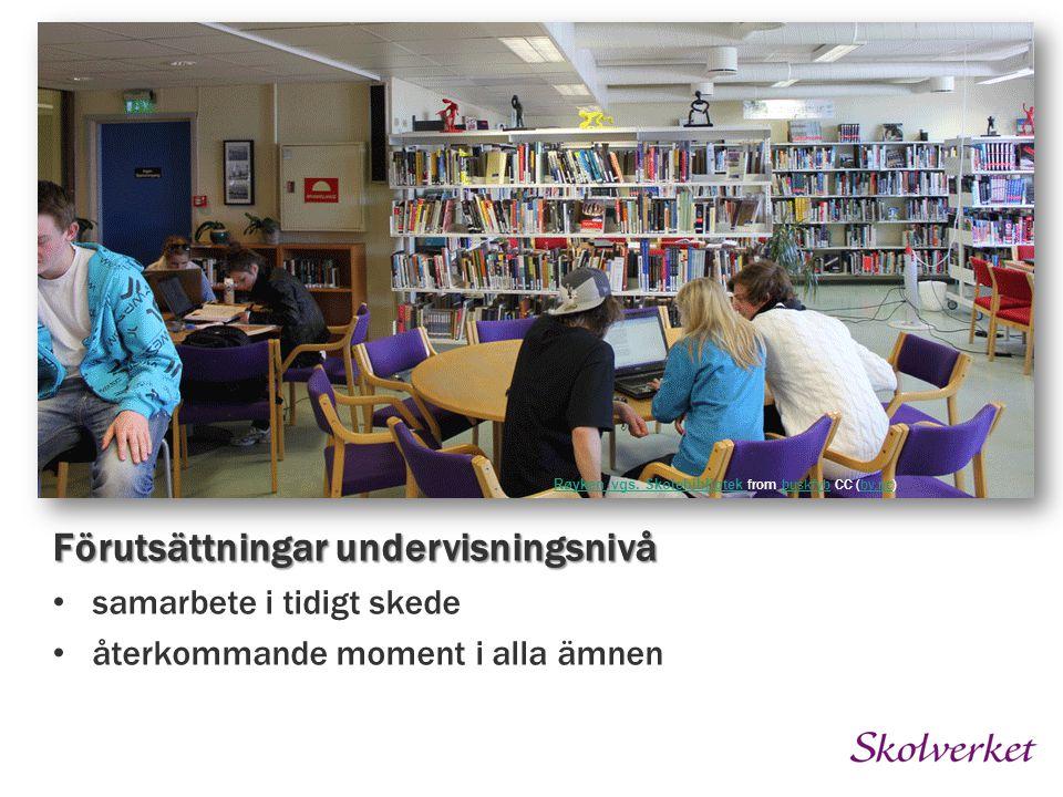 Røyken vgs. Skolebibliotek Røyken vgs. Skolebibliotek from buskfyb CC (by.nc)buskfybby.nc Förutsättningar undervisningsnivå samarbete i tidigt skede å