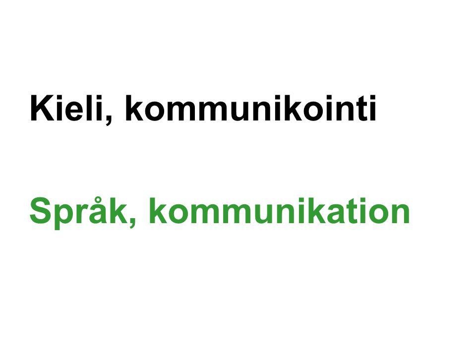 Kieli, kommunikointi Språk, kommunikation