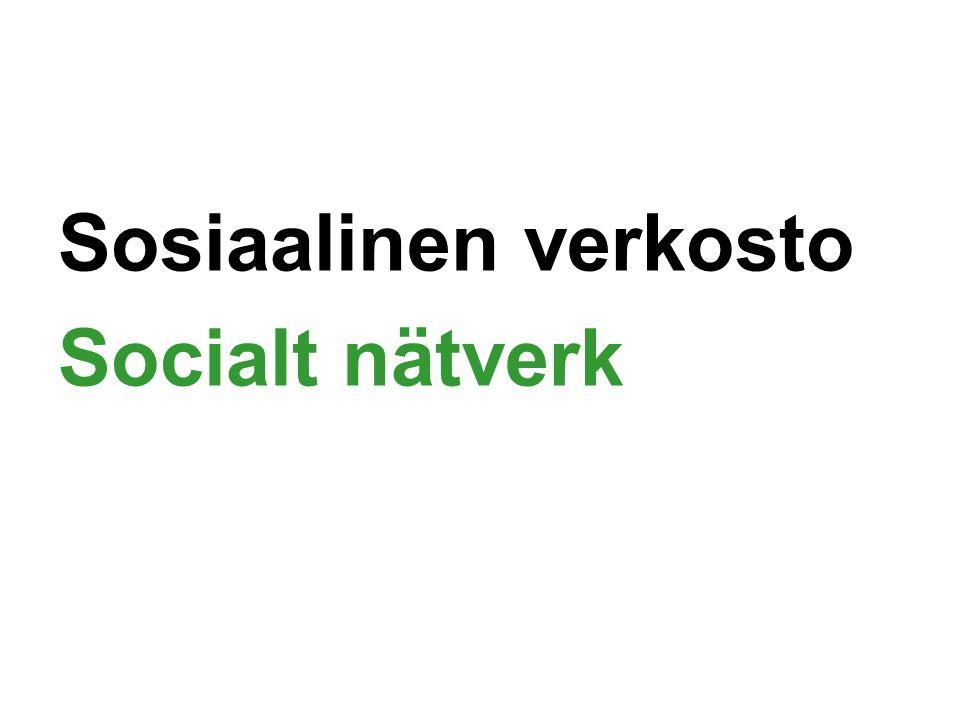 Sosiaalinen verkosto Socialt nätverk