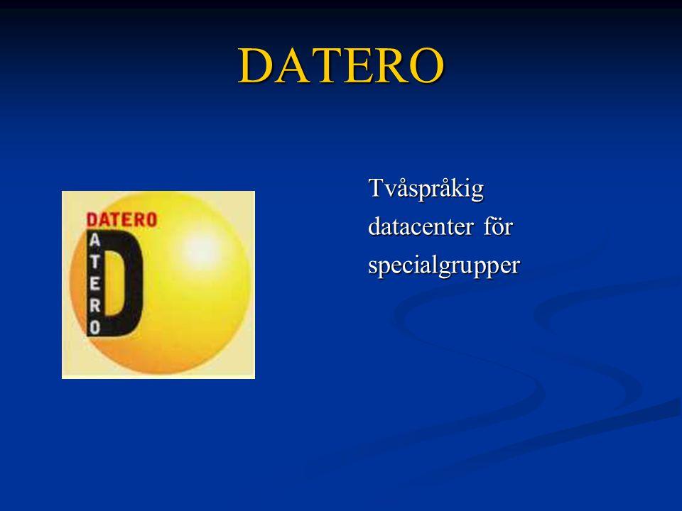 DATERO Tvåspråkig datacenter för specialgrupper