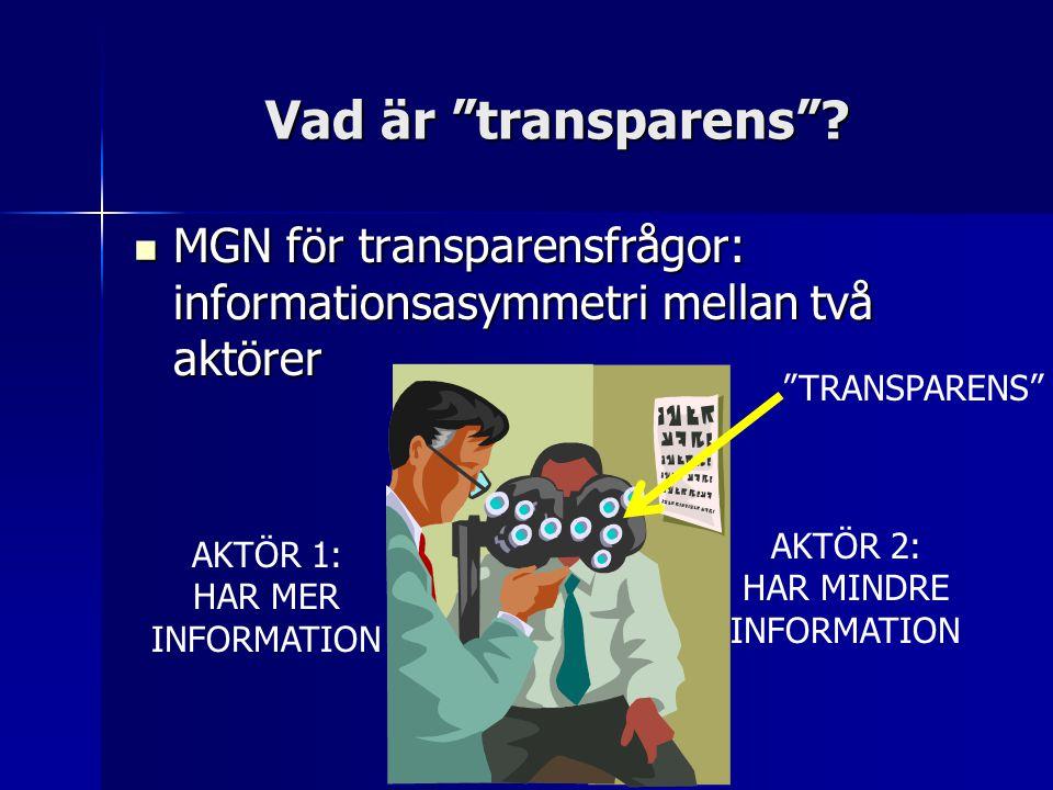 Vad är transparens .