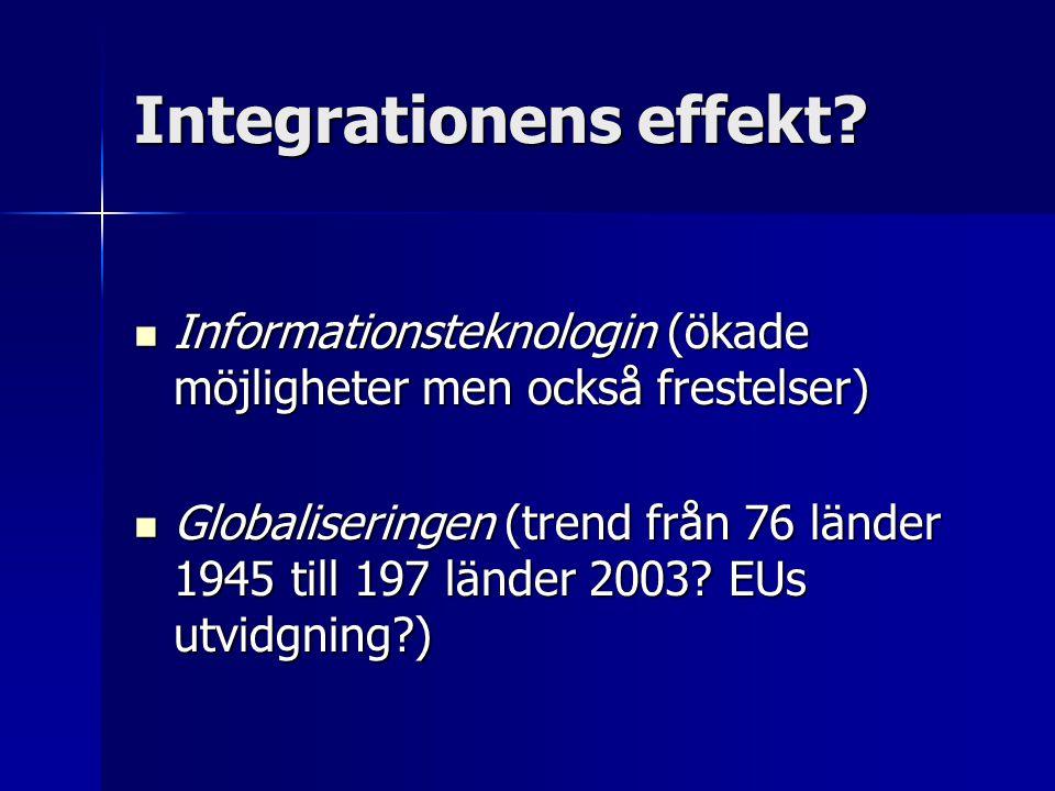 Integrationens effekt.