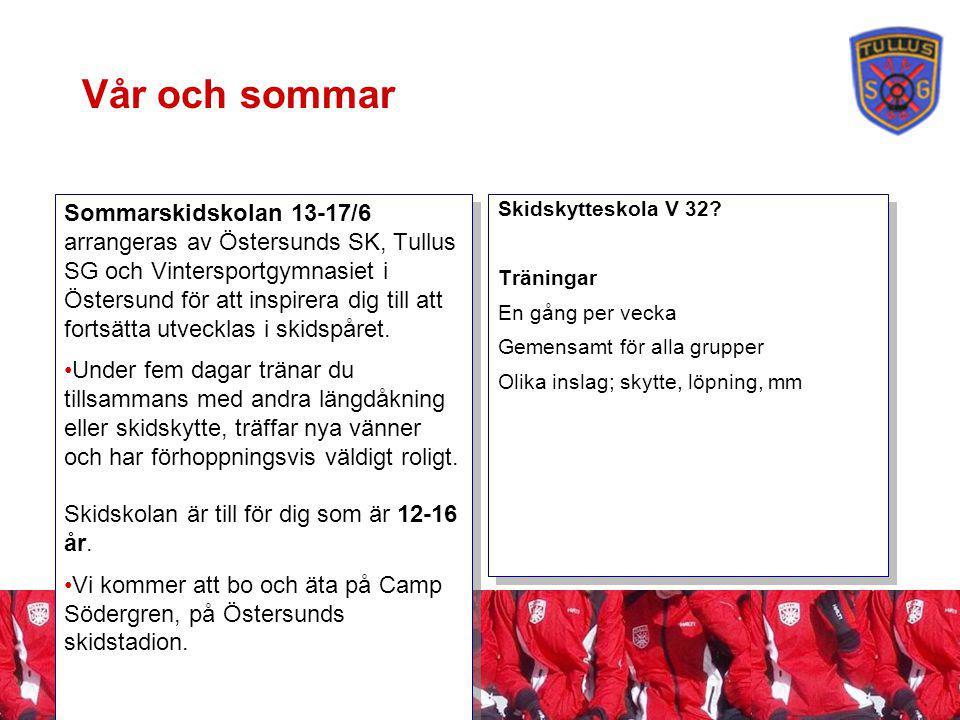 Vår och sommar Sommarskidskolan 13-17/6 arrangeras av Östersunds SK, Tullus SG och Vintersportgymnasiet i Östersund för att inspirera dig till att fortsätta utvecklas i skidspåret.