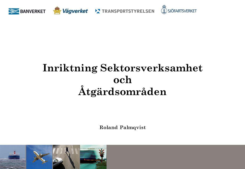 Inriktning Sektorsverksamhet och Åtgärdsområden Roland Palmqvist