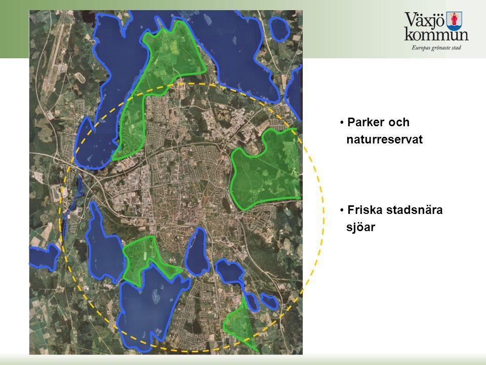 Parker och naturreservat Friska stadsnära sjöar