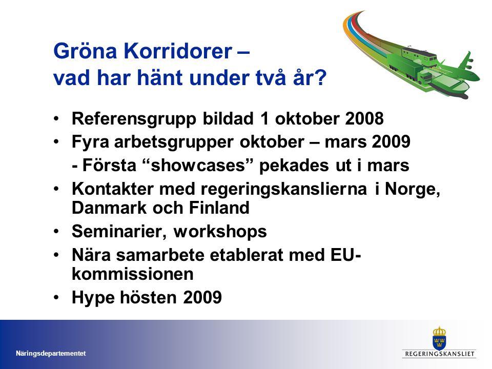 Näringsdepartementet Gröna Korridorer – vad har hänt under två år.