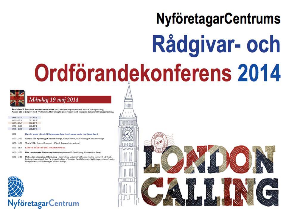 Rådgivar- och Ordförandekonferens 18 – 20 maj LondonSt Giles/ St James´Court Ca 140 rådgivare, ordföranden och samarbetspartners
