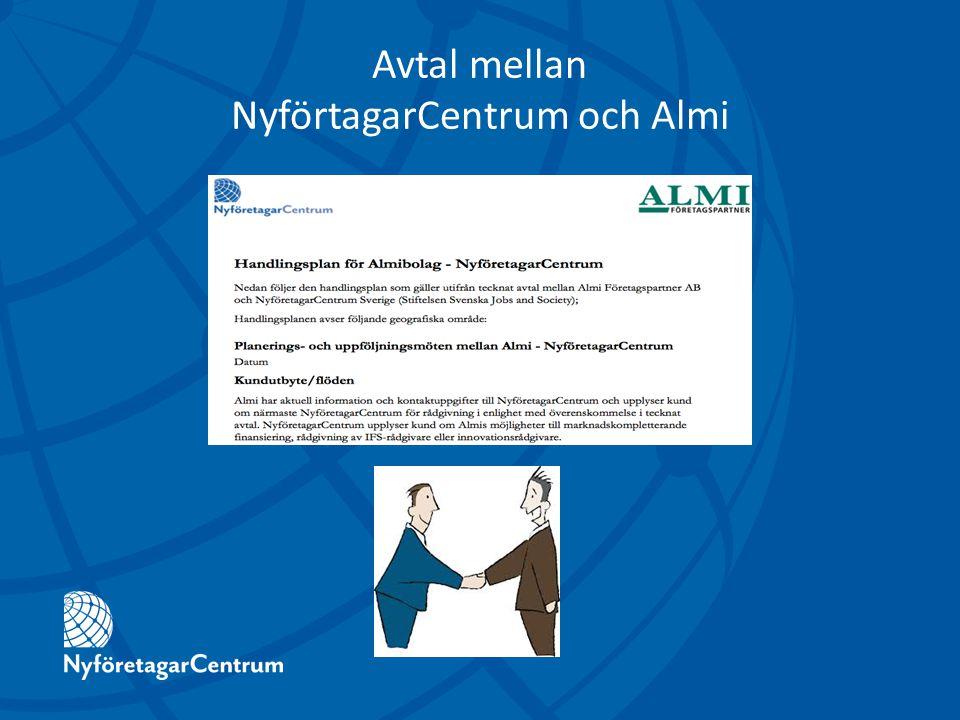 Avtal mellan NyförtagarCentrum och Almi