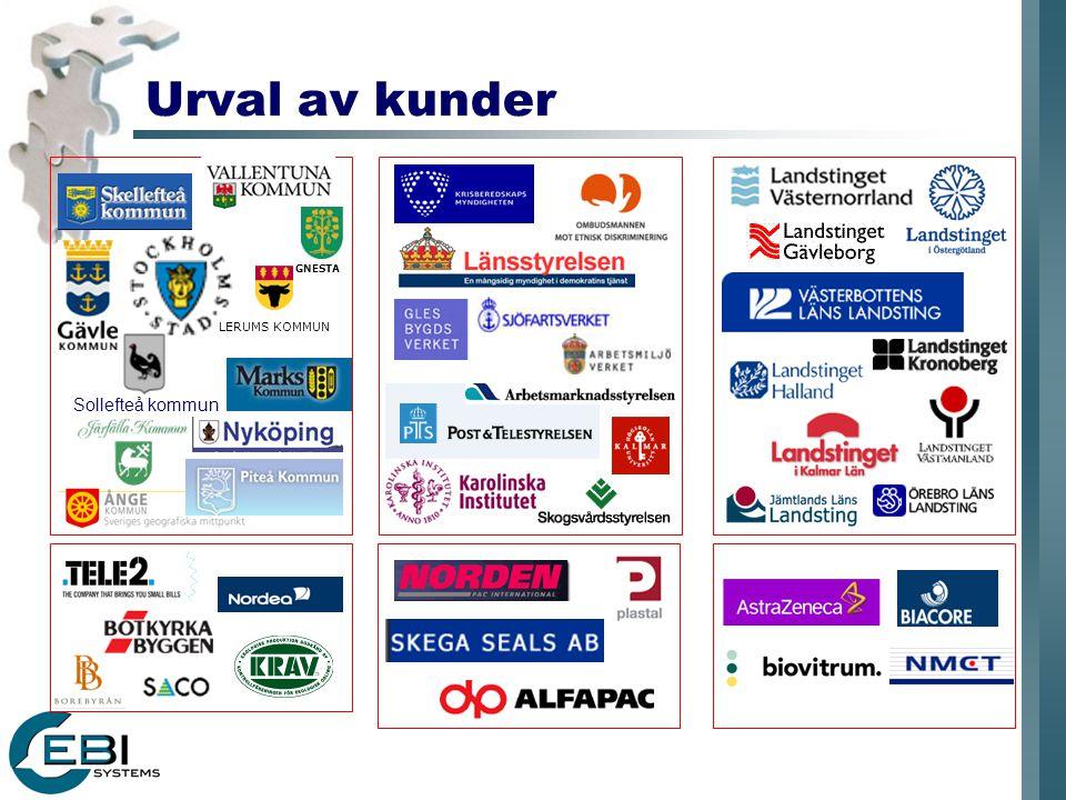 Urval av kunder GNESTA Sollefteå kommun LERUMS KOMMUN