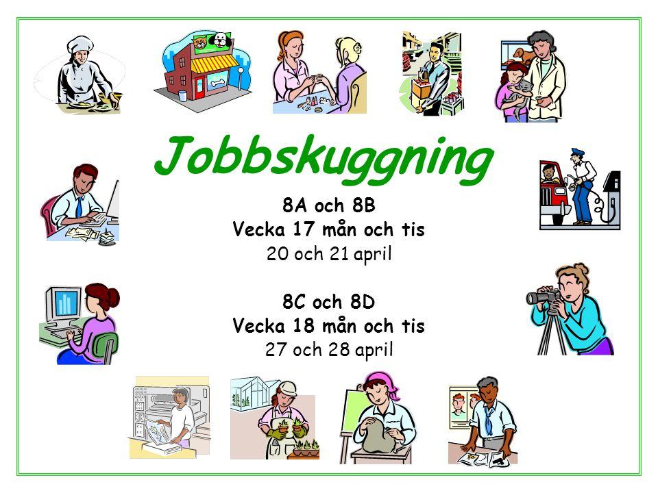 Vad är jobbskuggning Syftet är att du ska få se en arbetsplats och se vad man arbetar med och hur det är att arbeta där.