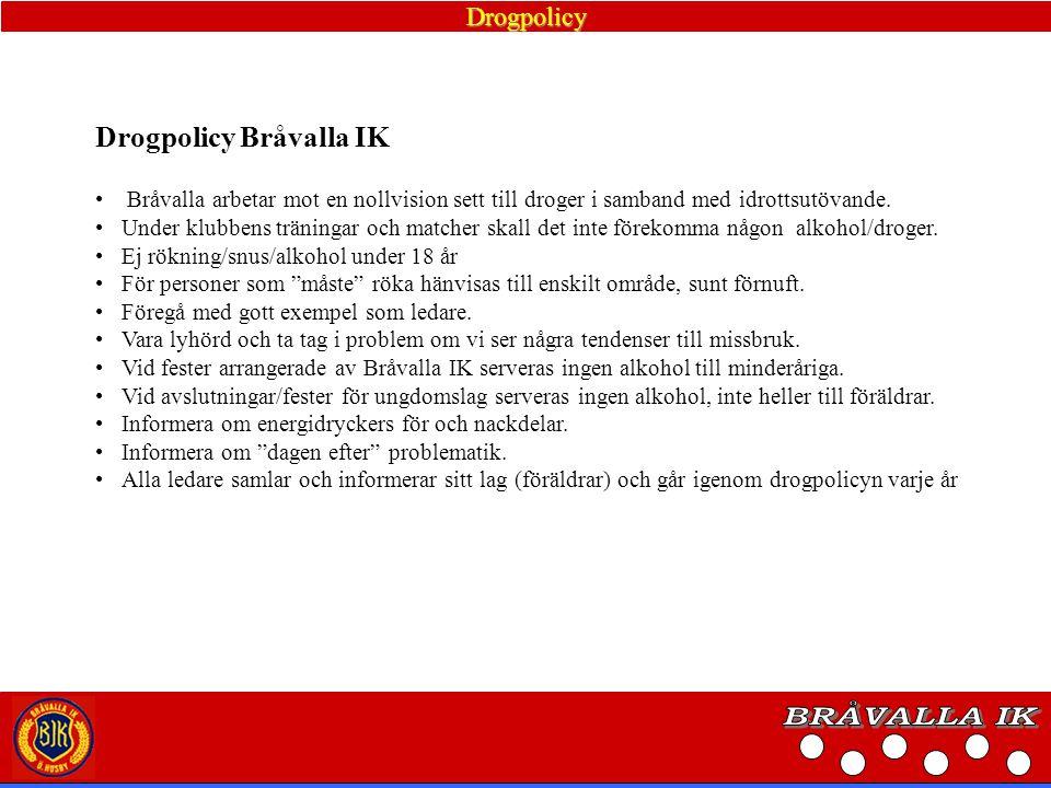 Utbildningsplan Bråvalla IK erbjuder ledare SVFF:S utbildningssteg.
