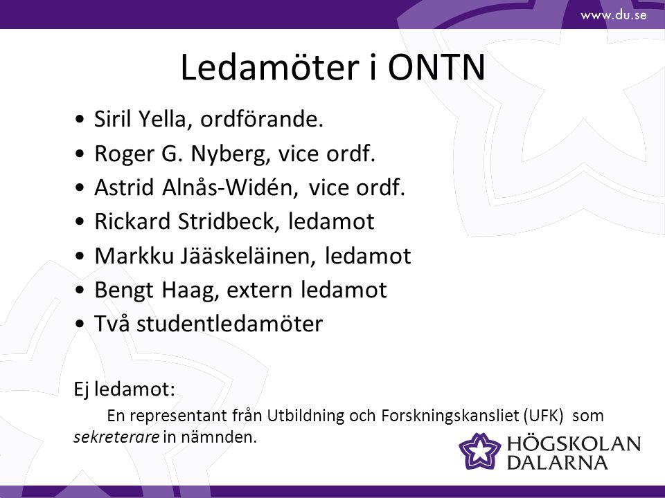 Ledamöter i ONTN Siril Yella, ordförande. Roger G.