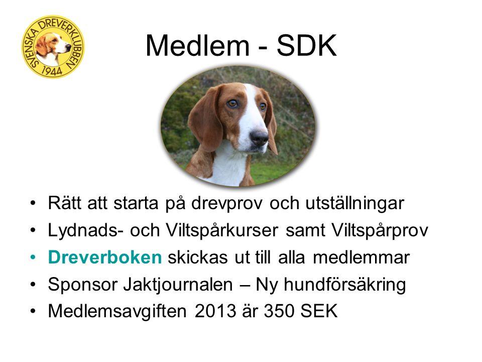 Information - SDK Dreverboken har utkommit i 69 årgångar. Den bästa årsboken bland jakthundklubbarna i Sverige. Information utsänds flera gånger per å