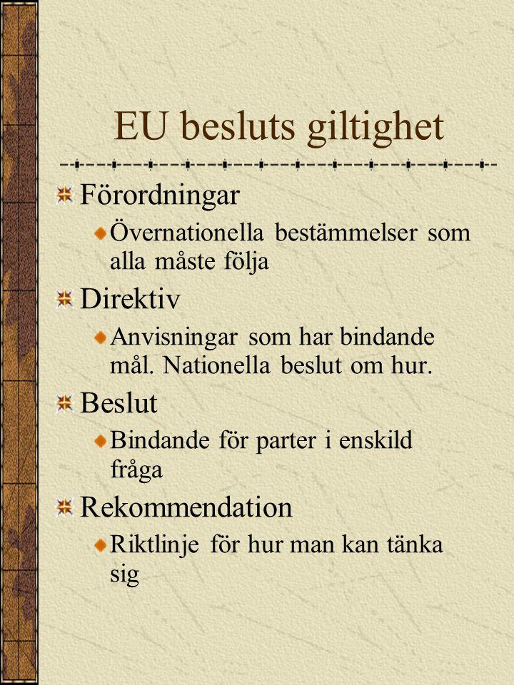 Hur fungerar EU Europarådet Stats- el.