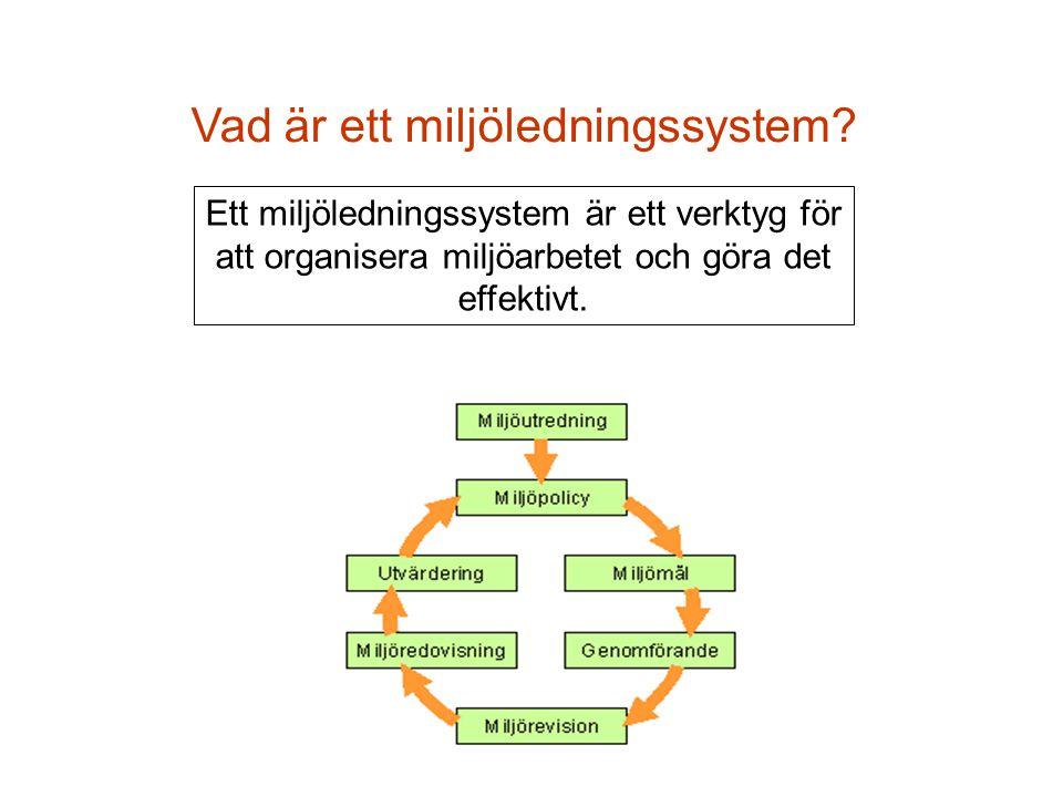 Vad är ett miljöledningssystem? Ett miljöledningssystem är ett verktyg för att organisera miljöarbetet och göra det effektivt.