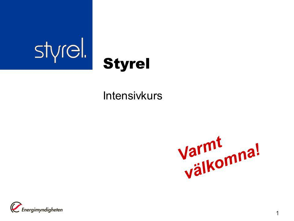 Introduktion Syfte och mål Utbildningens upplägg Grunder för Styrel 2