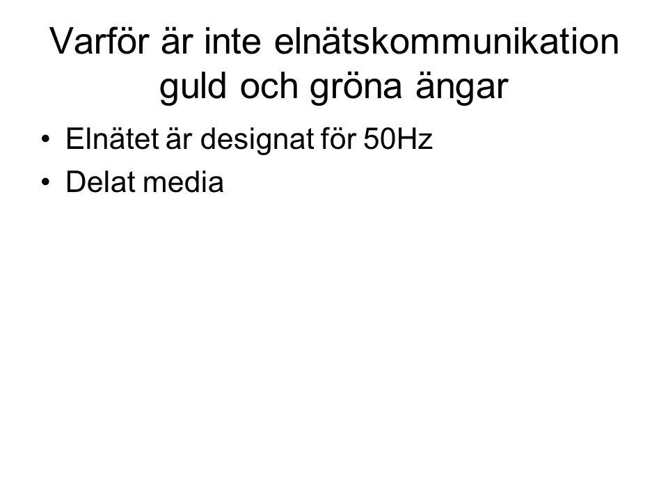 Varför är inte elnätskommunikation guld och gröna ängar Elnätet är designat för 50Hz Delat media