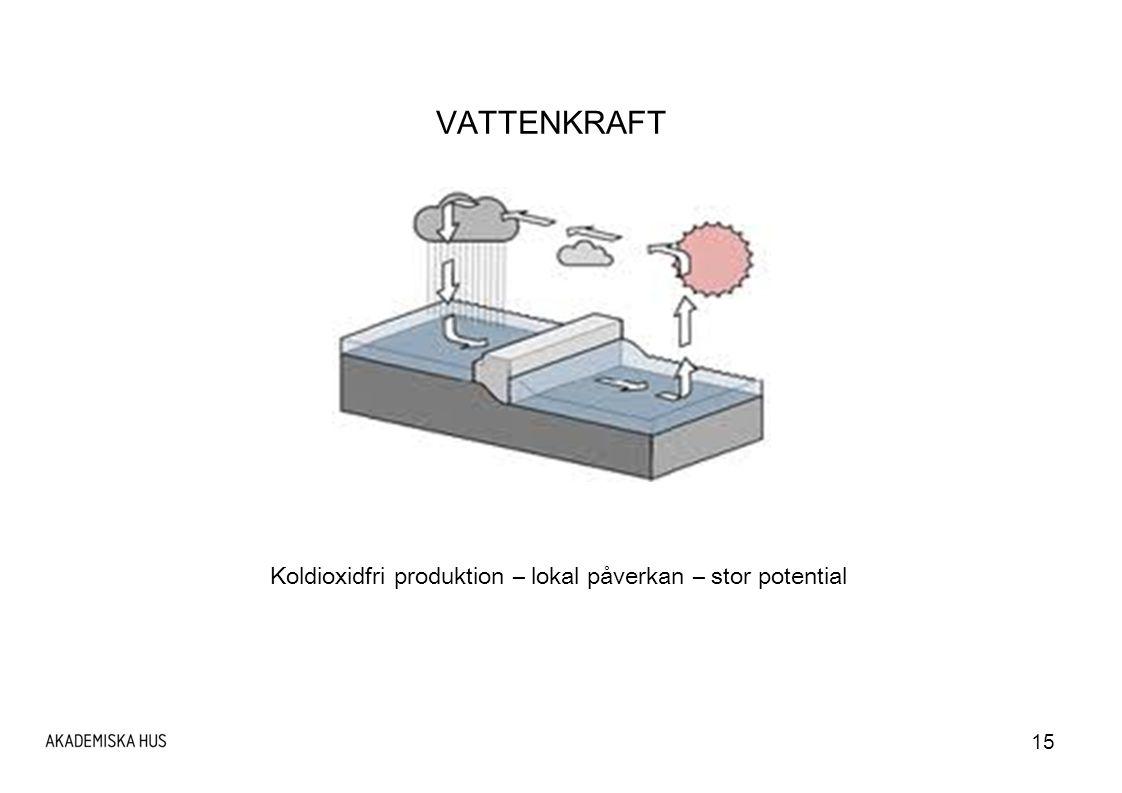 15 VATTENKRAFT Koldioxidfri produktion – lokal påverkan – stor potential