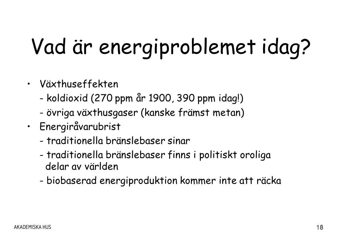 18 Vad är energiproblemet idag.