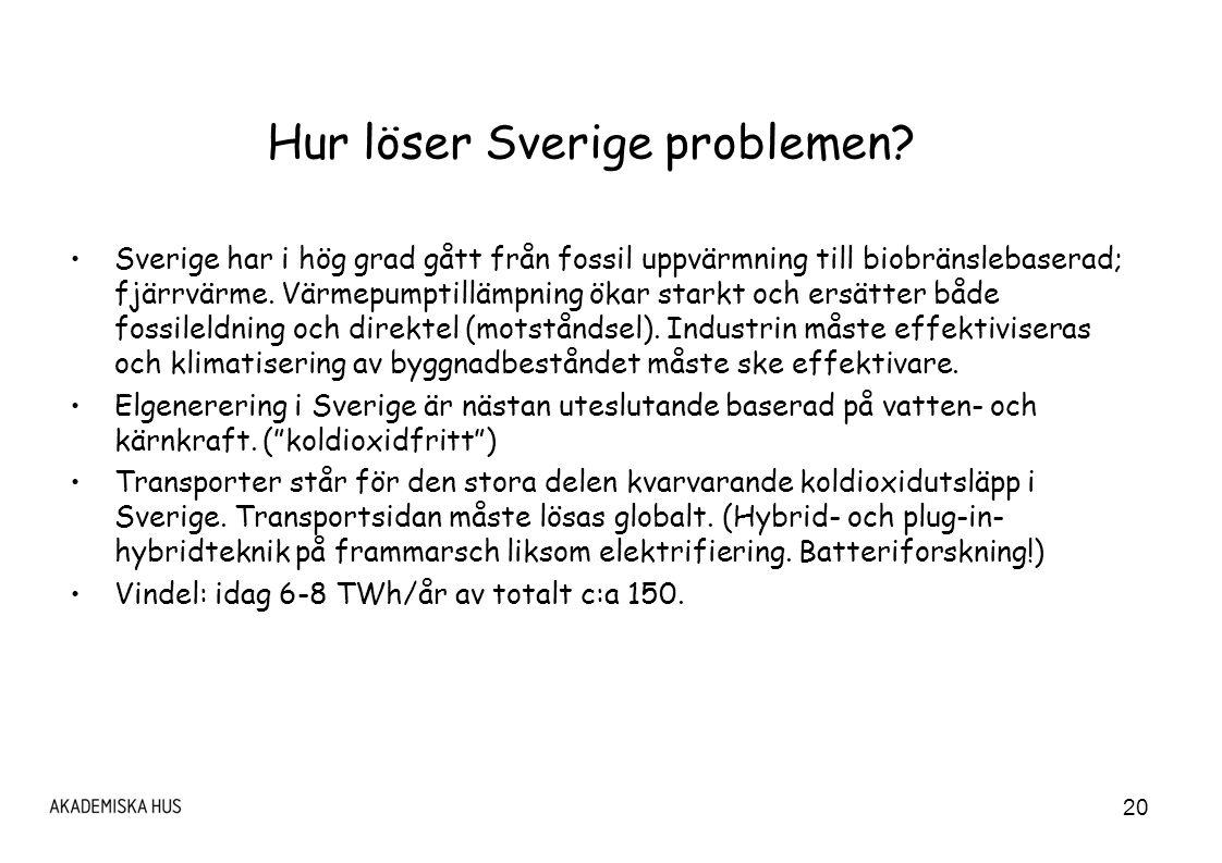 20 Hur löser Sverige problemen.