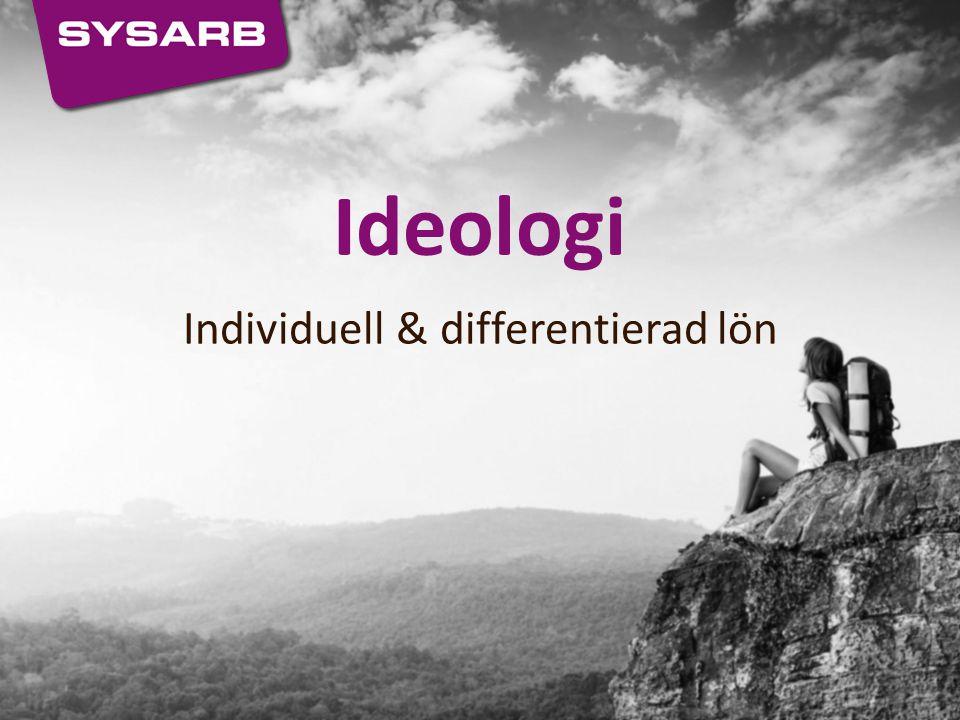 Individuell & differentierad lön Ideologi