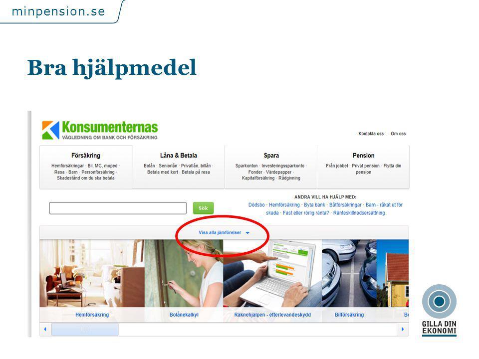 För att uppdatera sidfotstexten, gå till menyfliken: Infoga | Sidhuvud och sidfot. minpension.se Bra hjälpmedel